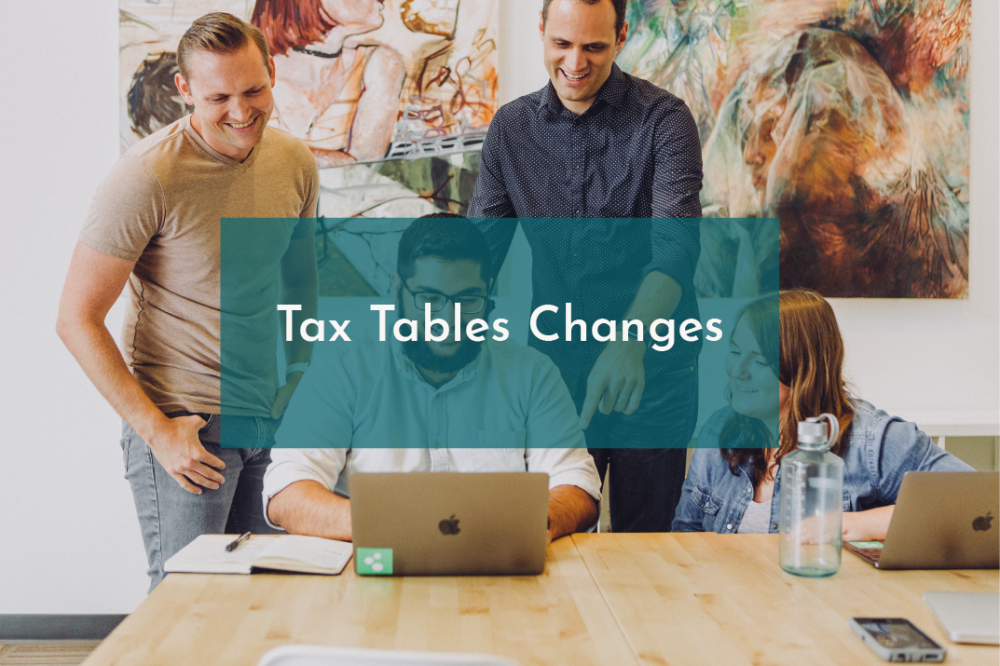 Changes to Tax tables
